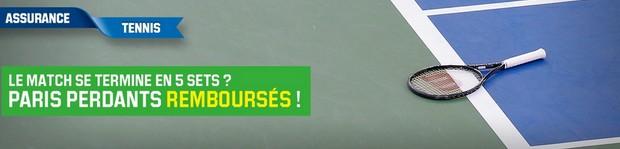 L'assurance tennis sur Unibet