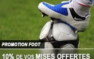 Promotion foot sur France-Pari : 10% de cashback offert en pariant sur les championnats Européens