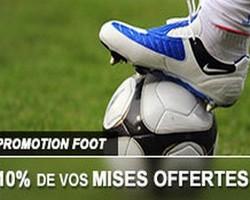 10% de cashback foot sur France-Pari