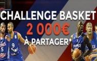 Le Challenge basket sur ParionsWeb : du 12 au 20 Septembre 2.000€ sont mis en jeu sur l'Euro Basket