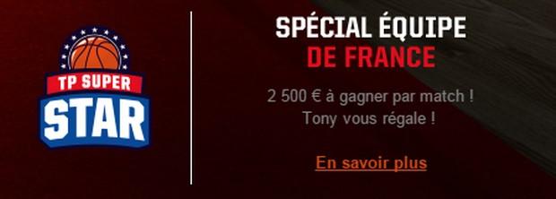 3 offres spéciales Euros basket sur Betclic