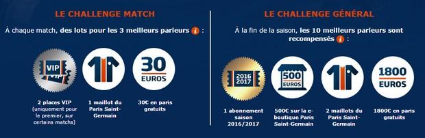 Paris Challenge Ligue sur PMU : les lots