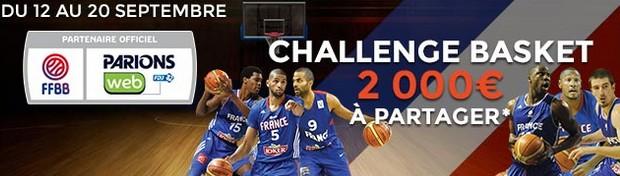 Le challenge EuroBasket sur ParionsWeb