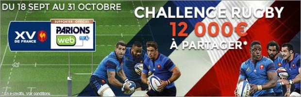 Challenge Coupe du Monde de Rugby sur ParionsWeb