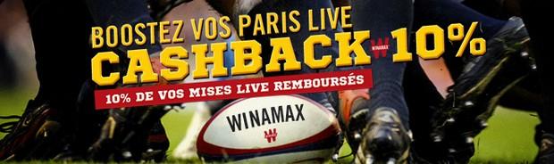 Cashback sur le rugby avec Winamax