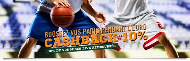 Cashback EuroBasket sur Winamax