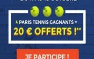 Pariez sur le Tournoi de Tennis de Shangai : ParionsWeb met en jeu 1.000 euros d'e-crédits