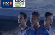 La Consolante Bleus Rugby sur ParionsWeb : 10€ offerts si les français s'inclinent face aux irlandais le 11 Octobre