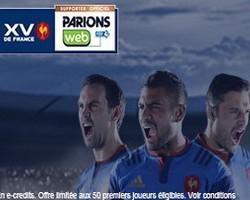 Sur ParionsWeb la Consolante Bleus Rugby