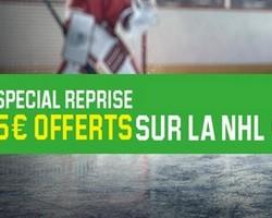Sur Unibet la reprise de la NHL