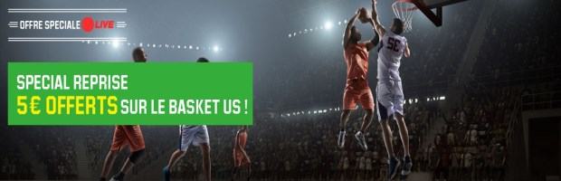 Bonus NBA Live sur Unibet