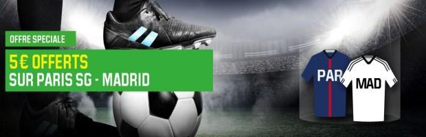 Bonus PSG-Real Madrid sur Unibet