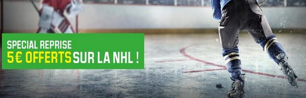 La reprise de la NHL sur Unibet