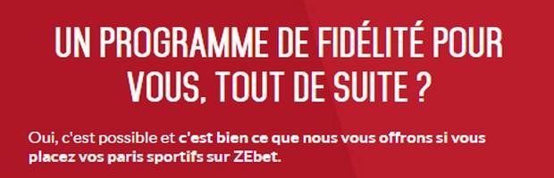 Le programme fidélité de Zebet : Zeclub