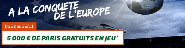 Pariez sur les coupes d'Europe avec PMU