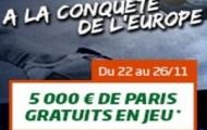 5.000€ à gagner en pariant avec PMU sur les rencontres de la 5ème journée de LDC et de Ligue Europa