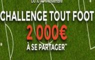 Le Challenge 100% Foot sur ParionsWeb : 2.000€ d'e-crédits mis en jeu du 10 au 17 Novembre 2015