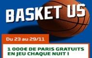 Challenge Basket US sur PMU Sport : 1.000 euros à gagner chaque nuit du 23 au 29 novembre