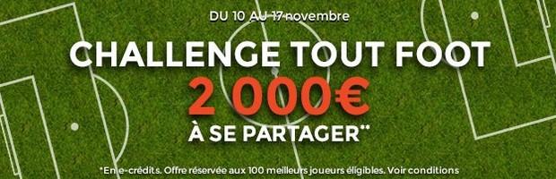 Le challenge foot de Novembre sur ParionsWeb
