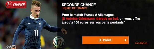 Seconde chance France-Allemagne sur PMU