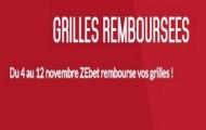 Venez essayer les grilles sportives sur Zebet : elles sont remboursées si elles sont perdantes