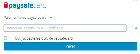 Payer en ligne avec Paysafecard