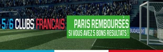 5/6 Clubs Français sur Unibet