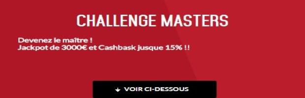 Challenge Masters de Londres sur Zebet