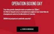Boxing Day sur Zebet : 3.000€ de jackpot + paris combinés assurés du 26 décembre au 3 janvier