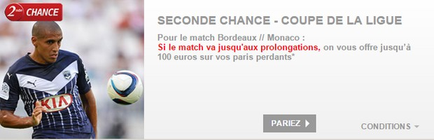 Seconde chance PMU sur Bordeaux-Monaco