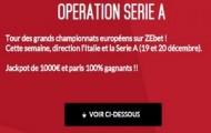 Challenge Serie A sur Zebet : 1.000€ mis en jeu et vos paris remboursés jusqu'à 20% sur la 17ème journée