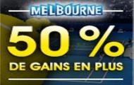 Misez en combiné sur l'Open d'Australie avec NetBet : jusqu'à 50% de gains en plus du 18 au 31 janvier