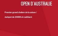 Misez sur l'Open d'Australie avec Zebet : une cagnotte de 2.000€ à partager + des paris assurés sur le tennis