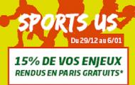 NBA, NFL et NHL sur PMU : 15% de Cashback sur les sports américains jusqu'au 6 janvier 2016