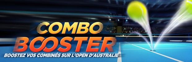 Combo Booster sur l'Open d'Australie avec Winamax