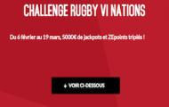 Challenge Six Nations de Rugby sur Zebet : 5.000€ mis en jeu et vos ZEpoints x3
