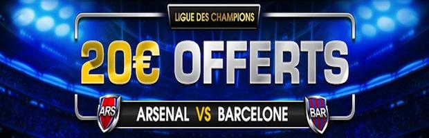 Netbet arsenal-Barca Ligue des Champions
