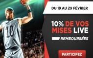 Gagnez jusqu'à 100€ grâce aux paris live sur le basket avec Betclic du 19 au 29 février