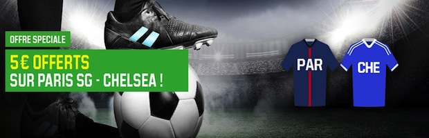 PSG-Chelsea sur Unibet.fr : 5€ de Cashback