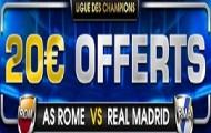 Misez sur AS Rome-Real Madrid avec NetBet : profitez d'un cashback de 20€ sur vos mises perdantes
