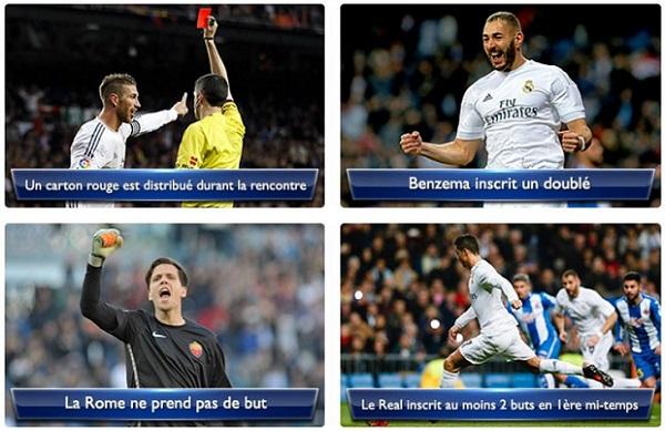 Paris semboursés sur NetBet à l'occasion du match de LDC Rome-Madrid
