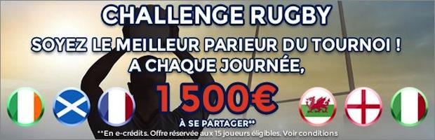 challenge rugby tournoi RBS sur parionsweb