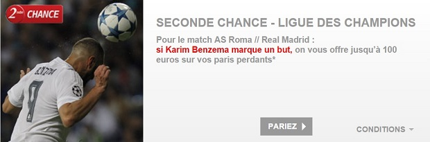 100 € à gagner pour Rome-Real MAdrid sur PMU