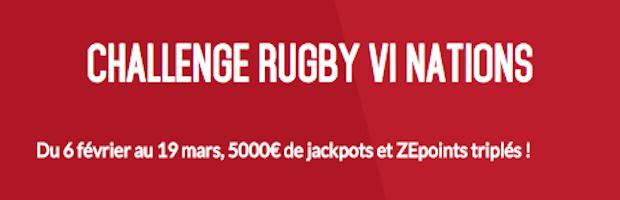 Challenge Rugby VI Nations sur Zebet