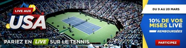 Pariez sur le tournoi d'Indian Wells avec Betclic