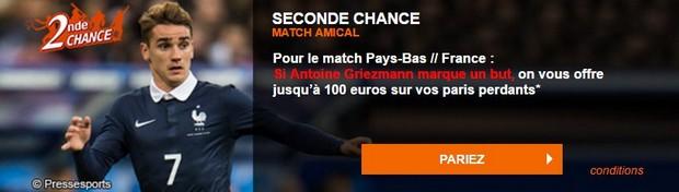 PMU seconde chance Pays-Bas/France