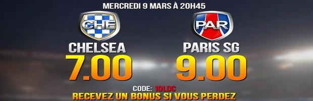 Côte boostées NetBet sur Chelsea-PSG