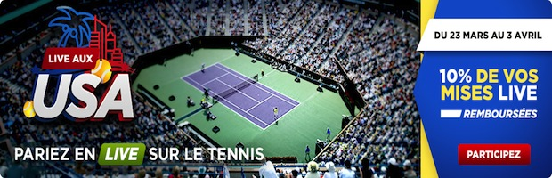 Tournoi de Miami sur Betclic sport