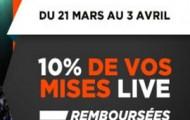 Du 21 mars au 3 avril, pariez en live sur le basket et Betclic vous offre jusqu'à 100€ de mises gratuites