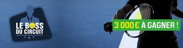 Boss Tennis sur Unibet : 3.000 € à partager